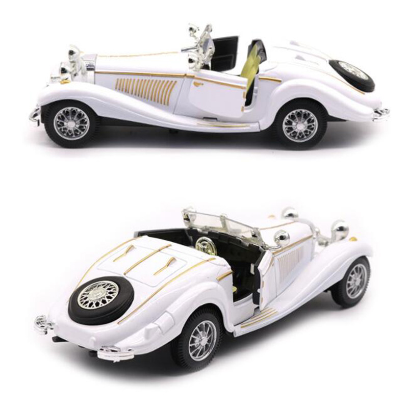 White Color 1:28 Scale 16.8CM Metal Alloy Diecasts 500K Classic Pull Back 1936 Car Model Vehicles Model Toys F Kids Collection