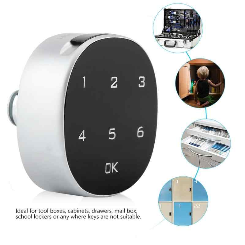 Digital Zinc Alloy Password Code Lock Combination Cam Electronic Cabinet Lock Keyless Password Safe Lock For Furniture Hardware