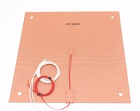 Funssor 120 220V 1000W Silicone Heater Heated Bed 400x400mm For Creality CR 10 S4 3D Printer