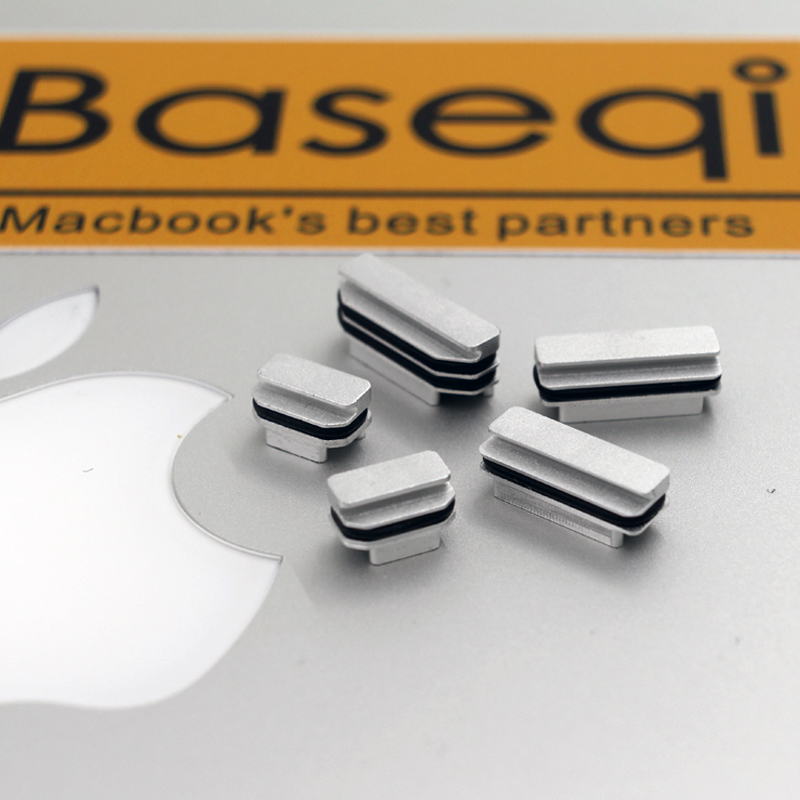 BaseQi NinjaDrive Aluminum Dust Plugs For MacBook Pro Retina 13
