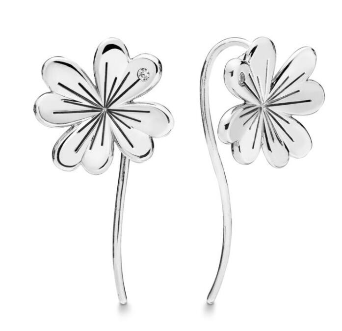 Detail Feedback Questions about Original 925 Sterling Silver Earring Lucky  Four leaf Clovers Pandora Earrings For Women Wedding Gift Fine Europe  Jewelry on ...