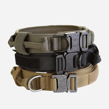 New Nylon Dog Collar Military Comfortably and Durable Necklace for Medium Big Pet Supplies Accessories(black,brown,green