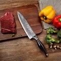 SUNNECKO 8 дюймов нож шеф-повара Дамасская сталь кухонные ножи японский VG10 острое лезвие Pakka Деревянная Ручка нарезка резак мясо