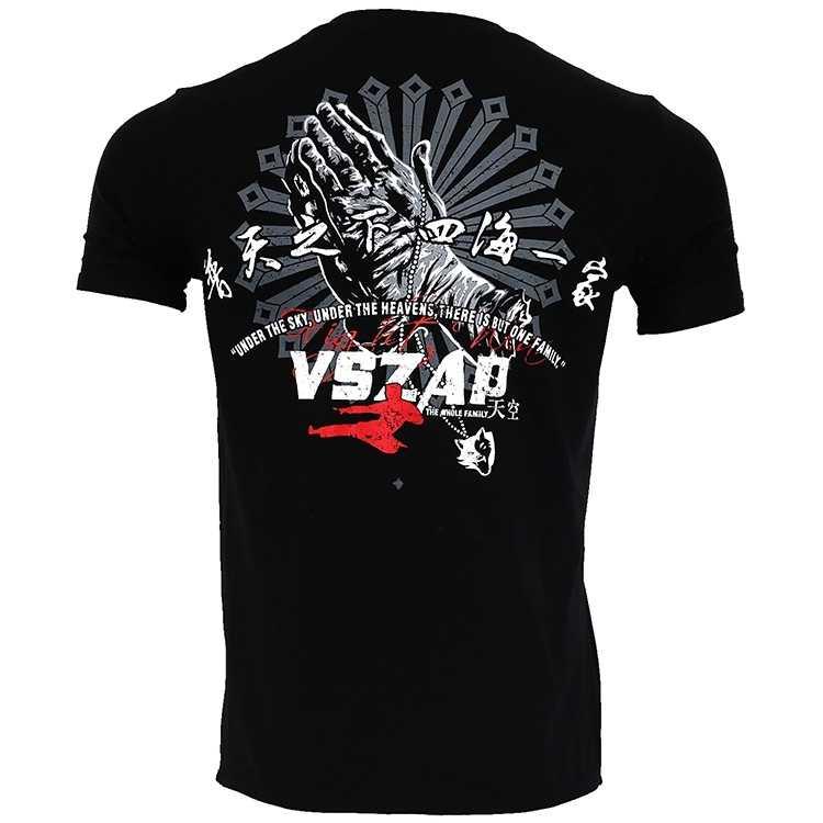 VSZAP Kampf Sanda Boxen MMA T-shirt Gym Tee Shirt Kampf Kampf Kampfkunst Fitness Training Muay Thai T-shirt Männer homme