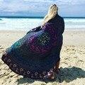 2016 Indiano Mandala Rodada Praia Xale Toalha Tapeçaria Lance Hippie Cigana Boho Pavão Algodão Toalha de Mesa Redonda Toalha De Praia Mat