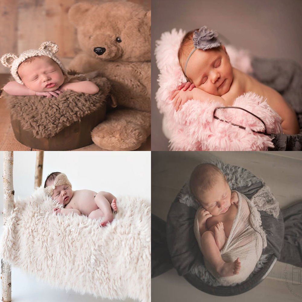 Newborn Photography Props Blanket Baby Photography Blankets 50x50cm Carpet Cushion Photo Studio Baby Photo Props Accessories