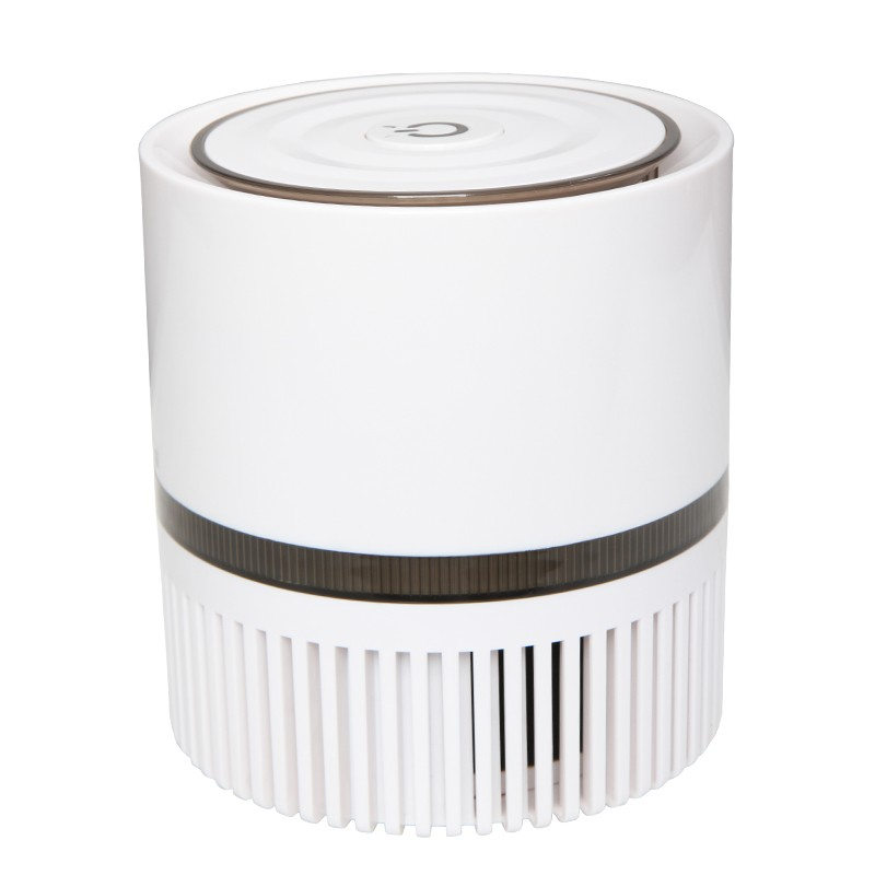 DC12V 8W POWER USB Portable air purifier with true HEPA filter home use mini air cleaner noise