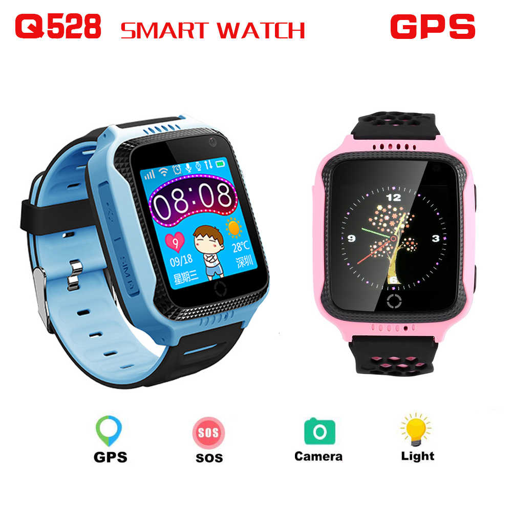 Q528 GPS LBS Smart Watch With Camera Flashlight Baby Watch SOS Call Location Device Tracker for Kid Safe PK Q100 Q90 Q60 Q50