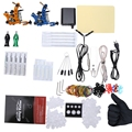 Complete Top Tattoo Kit with 2 Machine Guns Power Supply with 4pcs Round Tips 6pcs Flat Tips