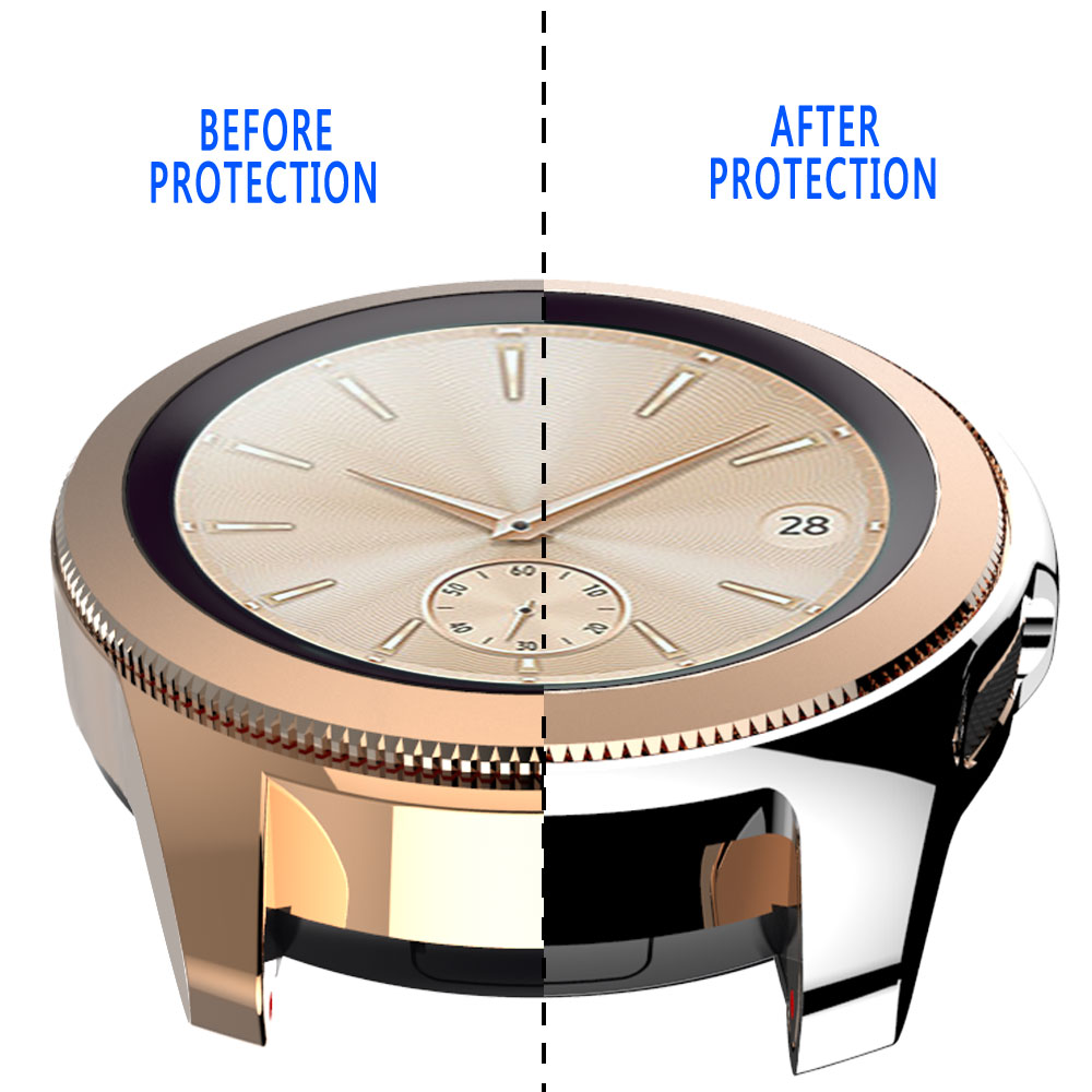 Soft Tpu Case For Samsung Galaxy Watch 46MM 42MM Smart Watch Shell Cover Screen Protector For Gear S3 frontier in Smart Accessories from Consumer Electronics