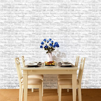 0.45*10m 3D Large Brick Wall Stickers on the Wall Living Room Bar Decor Self Adhesive Wallpaper Creative Vintage Poster