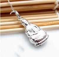 Pure 925 Sterling Silver Kwan Yin Pendant