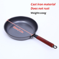 Cast Iron Non Stick Frying Pan Cooking Pot Skillet Flat Bottom Wok Cookware Use For Gas