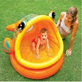 Fish Shade Baby Swimming Inflatable Pool Cartoon Animal Mouth Open Baby Water Playing Pool for Kids Children