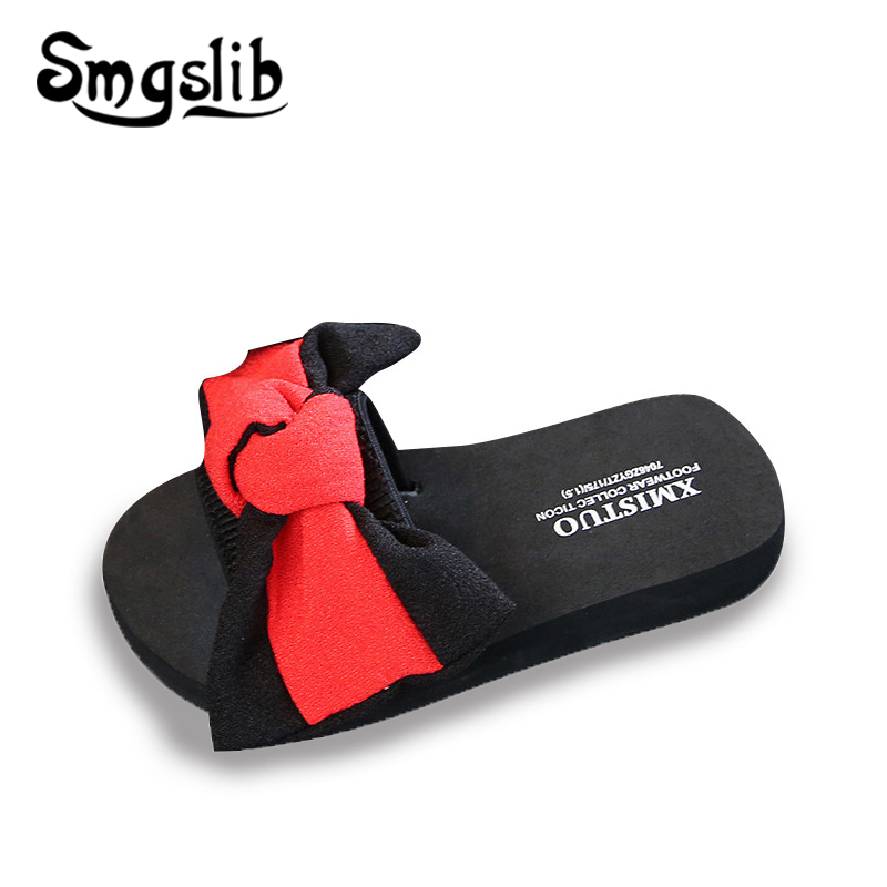 Girls slippers kids beach fashion bowknot casual sandals 2019 summer Children Bohemian Slippers Comfortable women Home shoes