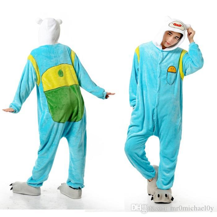 Adventure Time Finn Animal Onesies Pajamas For Adult Cute