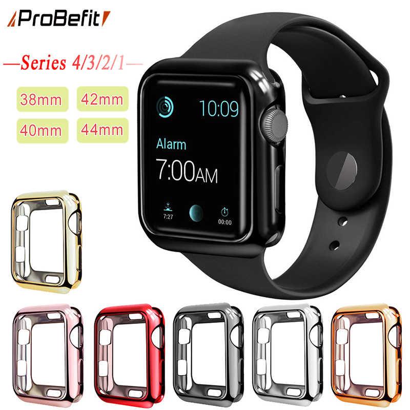 da7d5842933597 ProBefit TPU Slim Soft Case for Apple Watch Series 1 2 3 38MM 42MM Plating  Protective