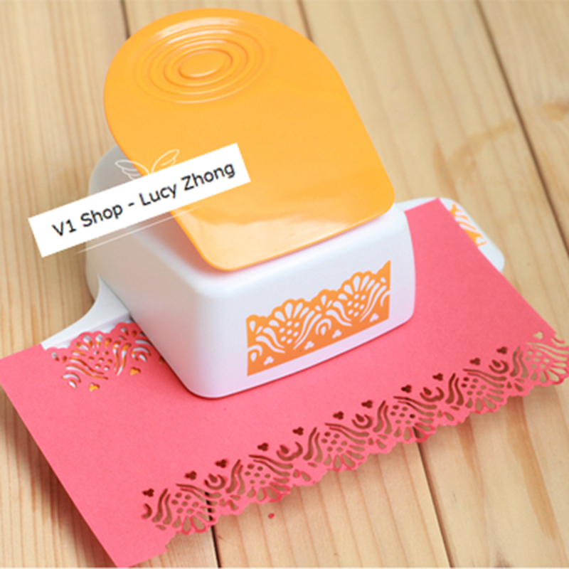 ФОТО 2016 Embossing Device Flower Puncher Paper  Punch Scrapbooking Punches Large Lace Border Papelaria Diy Card Perfurador De Papel