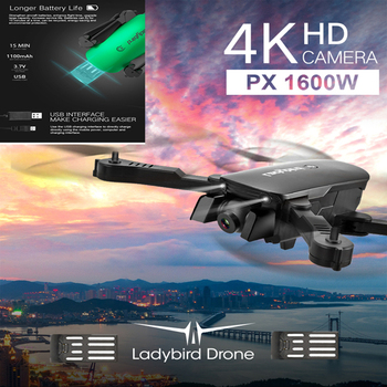 RC Drones with 4K HD Camera Quadcopter with Optical Flow Dual camera Remote Control Helicopter Carry Box VS E58 M69
