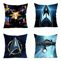 DIY Comfort Soft Cute Star Trek Pillow Cover 18x18inch 20x20 Inch 24x24inch Two Size Zippered Pillowcase