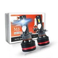 2pcs Auto 45W 4400lumileds CSP LED Chips led h11 h3 led headlight h7 h4 bulb h1 hb4 D1S Car LED Headlight Bulbs 6500K light lamp