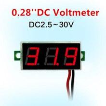 Panel-Meter-Gauge Voltmeter Display-Module Digital Motorcycle DC0-100V Mini Blue Car