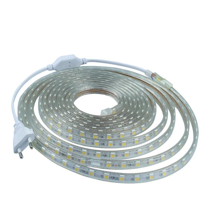 Zuczug Led Strip 220V Waterproof 5050 Ledstrip 220V Volt