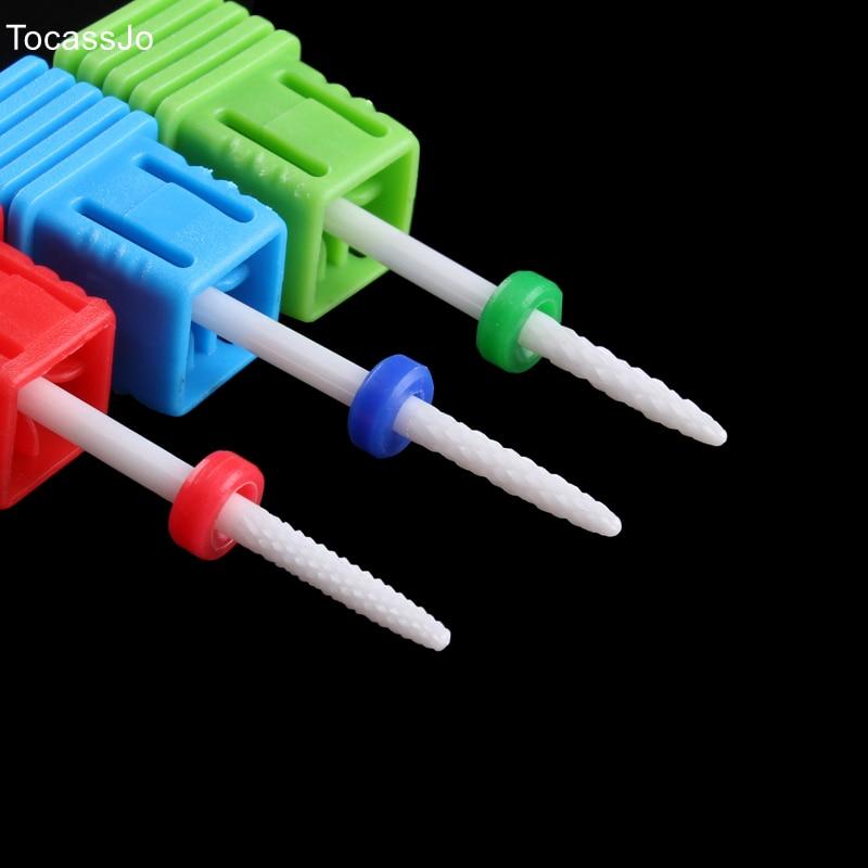 TocassJo Needle Like Ceramic Nail Drill Bits Cuticle Clean