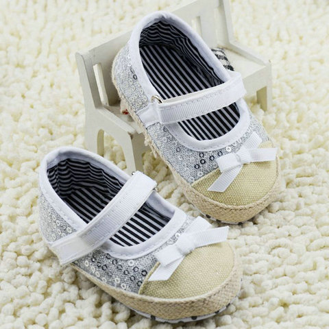 infant toddler shoes baby girls shoes bebe shoes first walkers crib  shoes kids shoes breathable Sequin Karachi