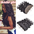 7A Cheap Peruvian Lace Frontal Closure 100% Unprocessed Human Hair Full Frontal Lace Closure 13x4 Body Wave Lace Frontal Closure