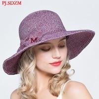 PJ.SDZM Summer Sun Protection and UV Protection Sun Hats Women Cool Straw Hats Ladies Travel Hat