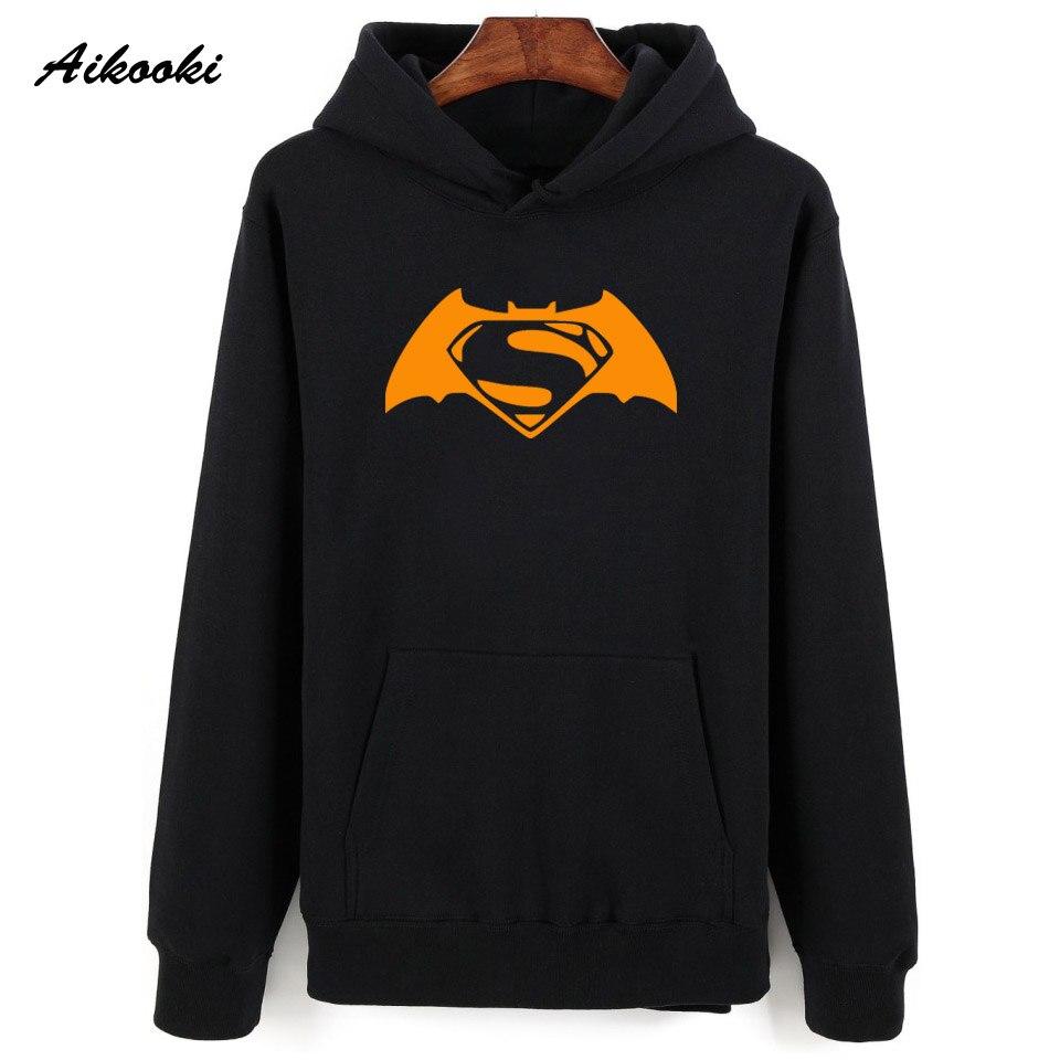 51e6ceac09f Aikooki Fashion Batman Hoodies Sweatshirt Men Pullover Red Hooded Shirts  Famous Batman Male Cap Clothing Films Stars Coat Jumper-in Hoodies    Sweatshirts ...