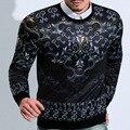 2015 nuevo invierno Yong hombres impresión de cobertura Casual sudaderas con capucha sudaderas M ~ XXXL Fadeless resistencia Pilling