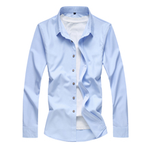 2018 Autumn Shirt Men Slim Fit Mens Dress Shirts Male Clothing Brand Plus Size M-6XL 7XL SA51