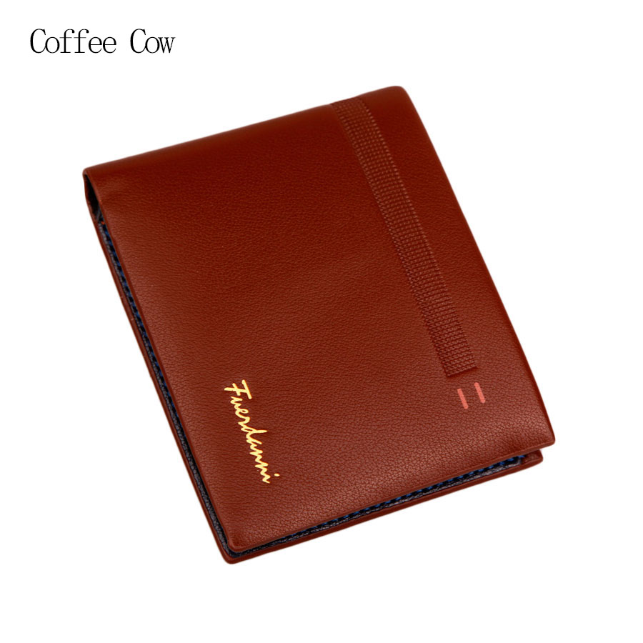 2016 Men Famous Brand Soft Top Leather Short Brown Wallet, Dollar Price Male's Cowhide Business Solid Cool Purse Card Holder dante brand 2016 retro brown purse wallet men genuine leather vintage wallet organizer card holders dollar price for gift