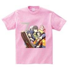 2019 Summer Childrens/Youth Anime Naruto T Shirt Boy Girl Baby Casual Uzumaki/Sasuke Kids Short Sleeve shirts Clothing 3T-8T