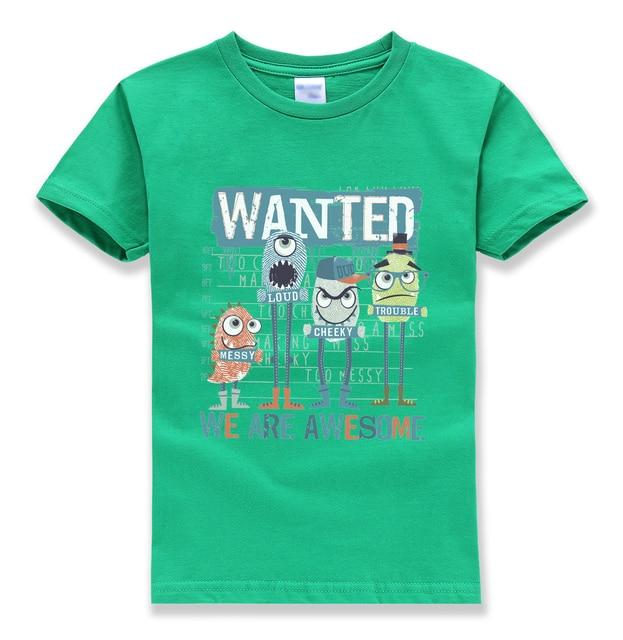 kids short sleeve brand funny fashion cute tshirt summer clothing pullovers harajuku t-shirt 2018 streetwear homme t shirts boys
