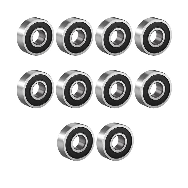 6001ZZ 12x28x8mm 5pcs 6000 Series Carbon Steel Metal Shielded Deep Groove Ball Bearings