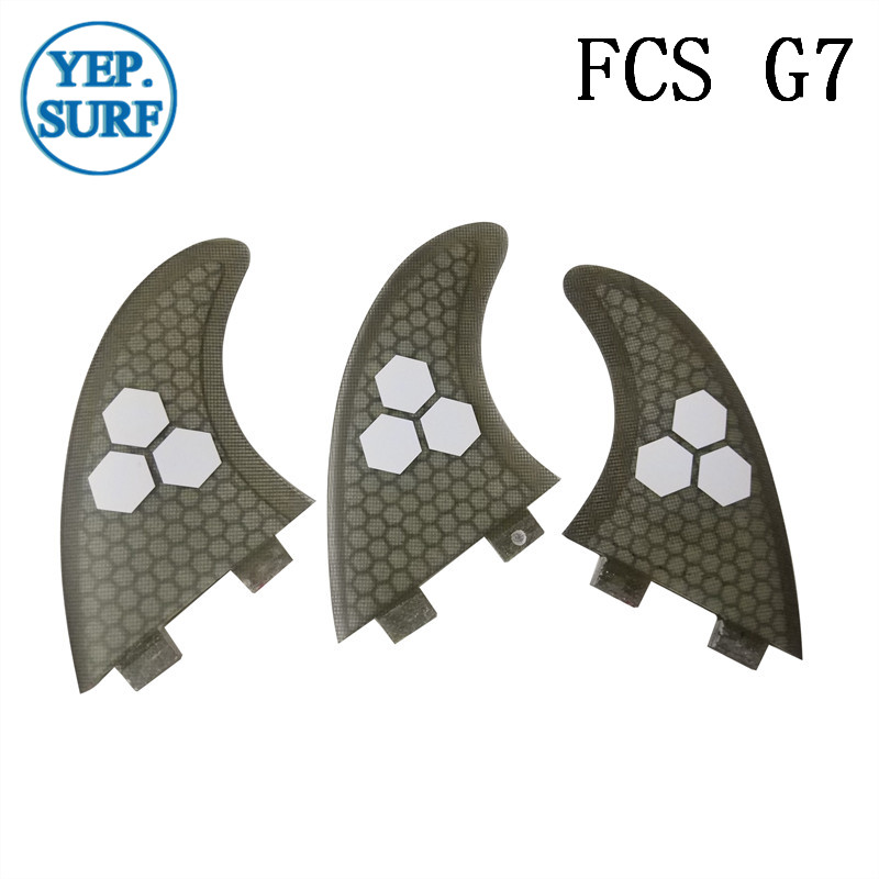 Surf Fins FCS G7 Fin Honeycomb Surfboard Fin Gray Color Surfing Fin Quilhas Thruster Surf Accessories