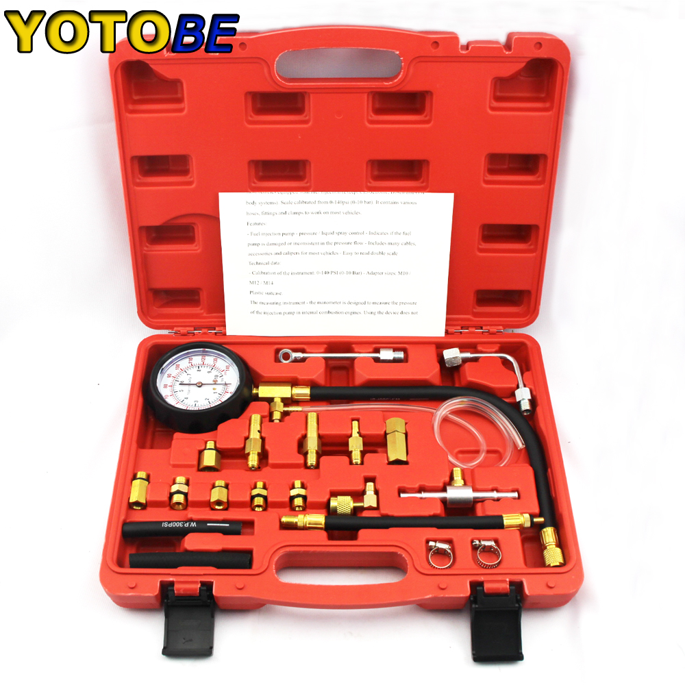 New Arrival TU 114 Fuel Pressure Tester Pressure Gauge Auto Diagnostics Tools Set