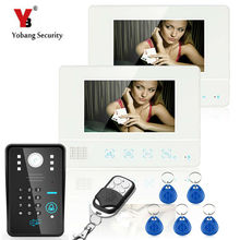 YobangSecurity 7″Inch Lcd RFID Password Video Door Phone Intercom System Wth IR Camera 1000 TV Line Remote Access Control System