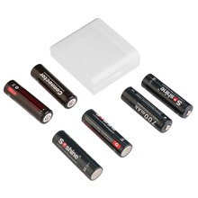 4pcs 14500 700mAh Rechargeable LiFePO4 Battery and 2 Connectors for Soshine Rechargeable Li ion Batteries Professional