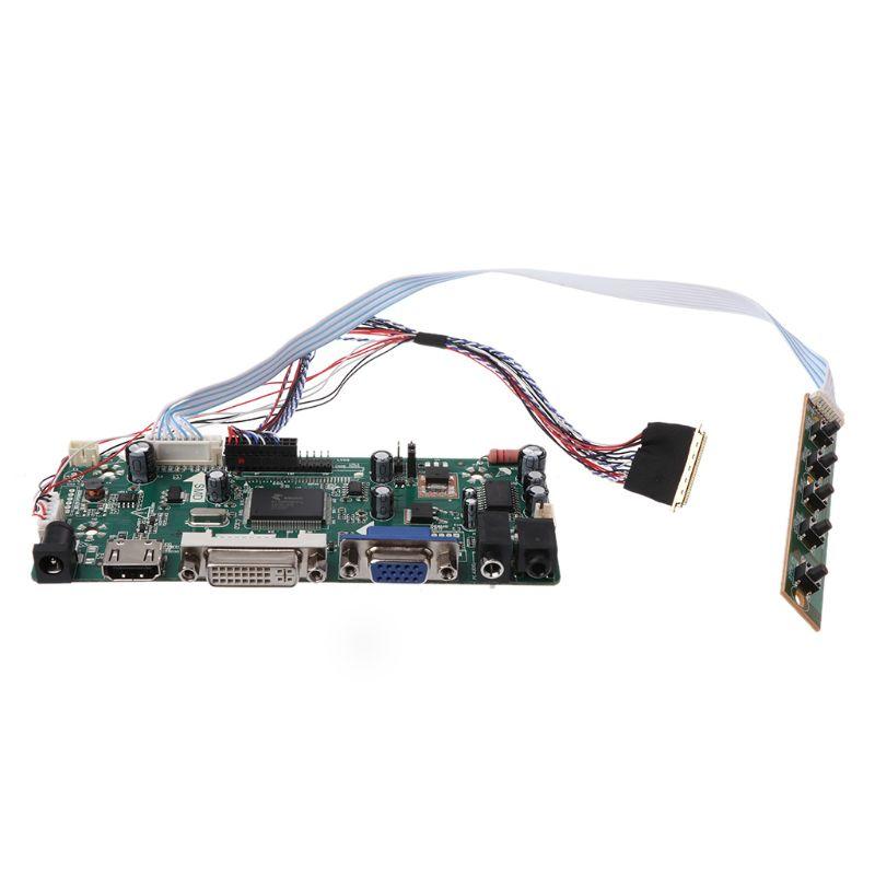 "Image 4 - Плата контроллера ЖК дисплей VGA, HDMI, DVI аудио ПК Драйвер модуля DIY Kit 15,6 ""Дисплей B156XW02 1366X768 1ch 6/8 bit 40 Pin Панель-in Сменные детали и аксессуары from Бытовая электроника"
