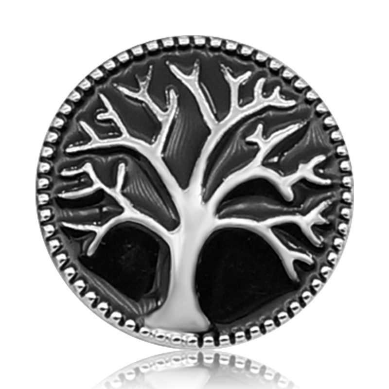 Nova KZ3080 Beleza árvore de Charme Vida Colorida 18MM 4 cores para DIY snap botões De pressão de Metal de jóias por atacado