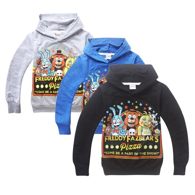 New Kids Cartoon game Five Nights at Freddy's long sleeve Hoodies cotton Sweatshirts for boys girls retail