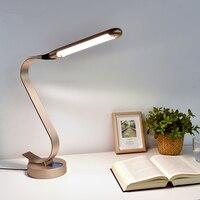 スーパー明るいledデスクランプ15ワットスライド制御金属テーブルランプ6レベルの明るさ6色モード調節可能な読書ライト