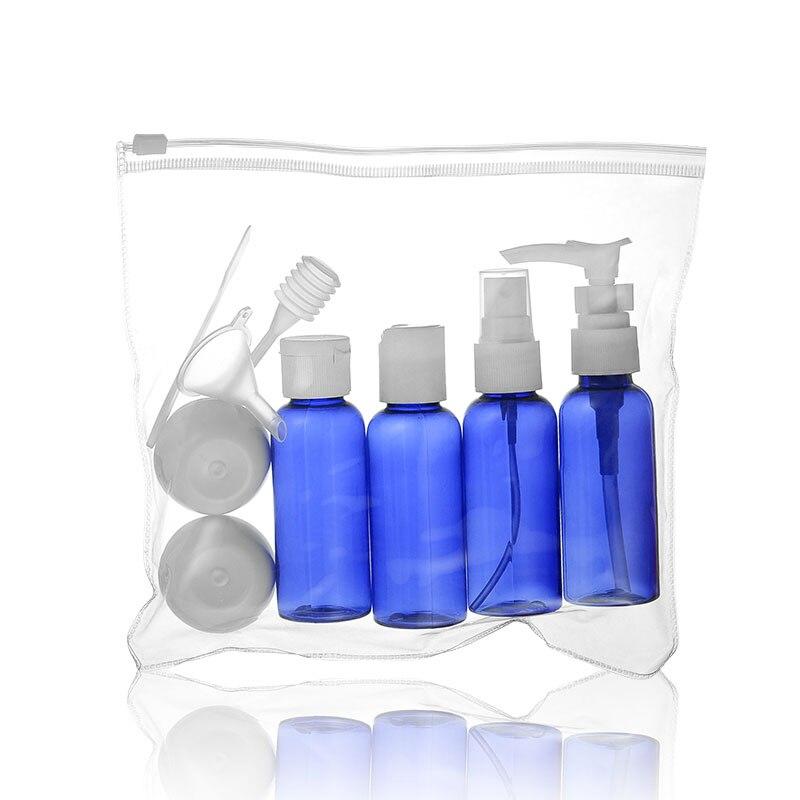 Портативный мини дорожный набор пластиковых бутылок, распылительная бутылка, инструменты для макияжа, дорожные наборы, подрозливание макияжа