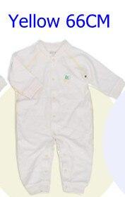 Комбинезоны для маленьких мальчиков и девочек, коллекция года, Одежда для новорожденных и малышей, детский хлопковый комбинезон с длинными рукавами, Красивый хлопковый комбинезон унисекс - Цвет: 66CM YELLOW