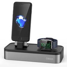 Для Apple Watch, 3-Порты и разъёмы USB Зарядное устройство Подставка для Apple Watch Series 3/2/1/IPhone X/8, 8 плюс/7/7 Plus/6 Зарядное устройство Dock