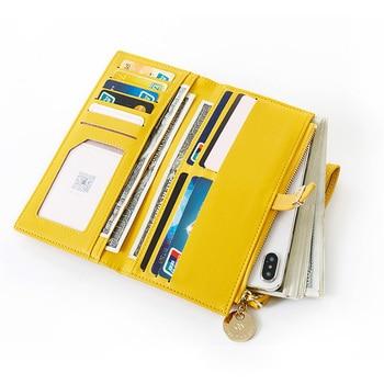 Wristband Women Long Wallet Many Departments Female Wallets Clutch Lady Purse Zipper Phone Pocket Card Holder Ladies Carteras 2